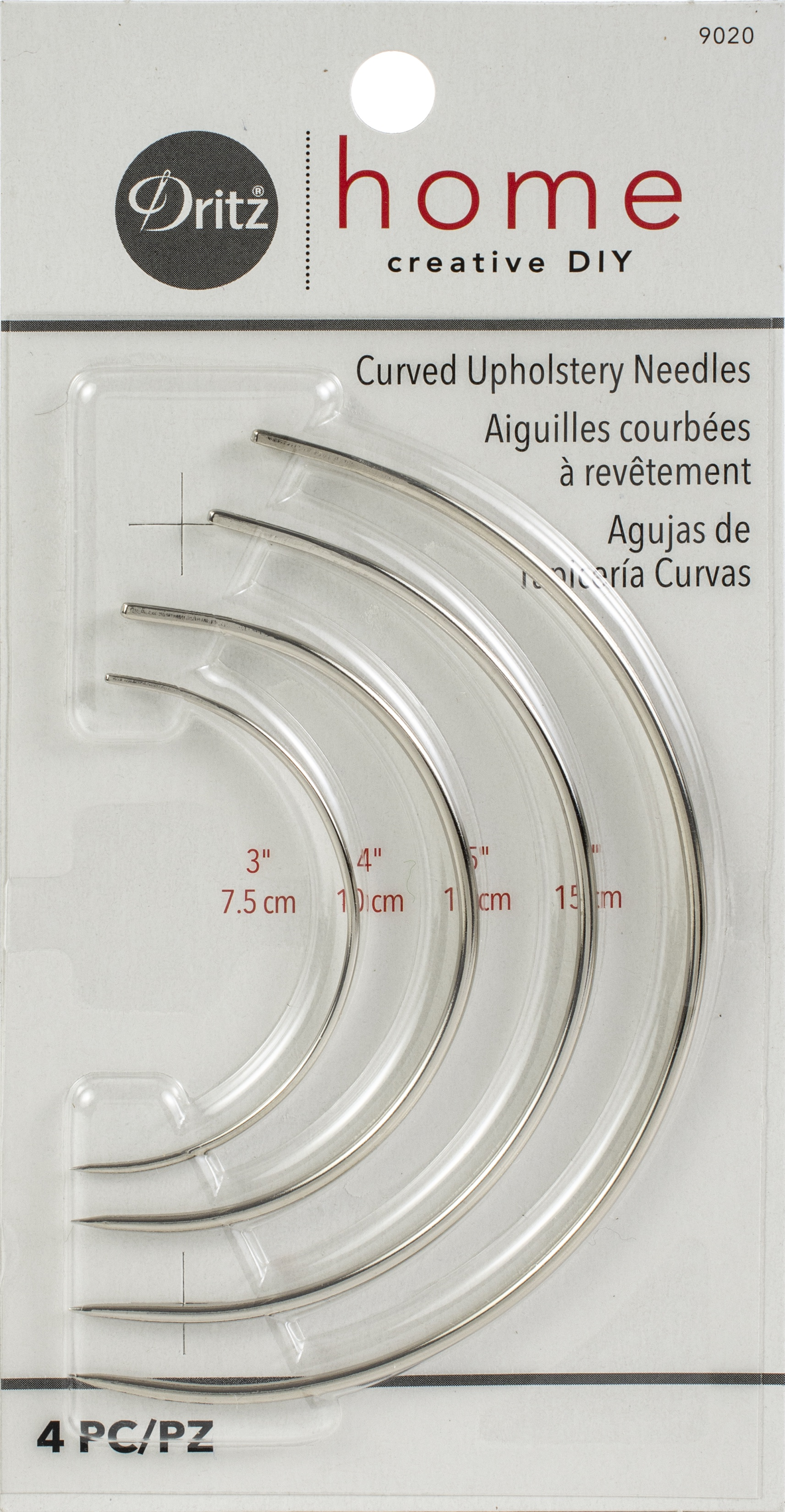 Curved Upholstery Needle 4 pc.