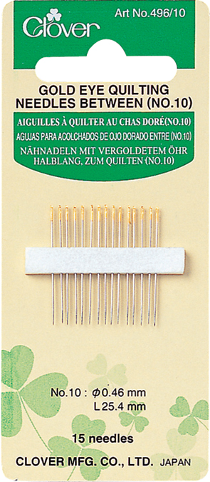 Gold Eye Quilting Needle Size 10