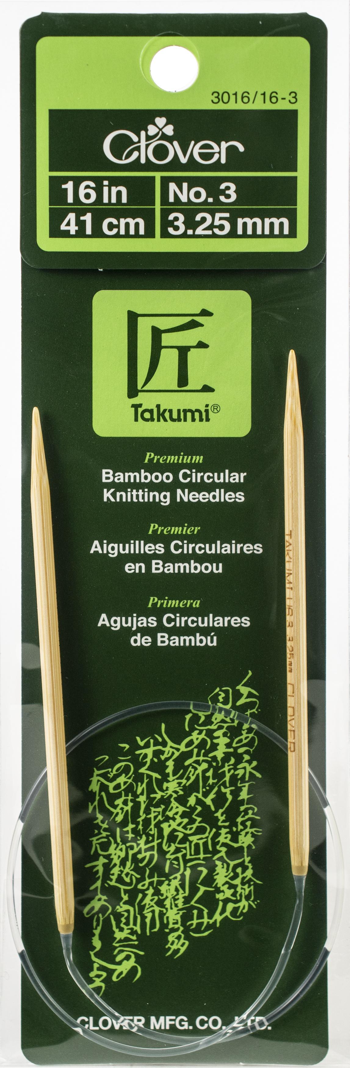 Takumi Bamboo Circular Knitting Needles 16-Size 3/3.25mm