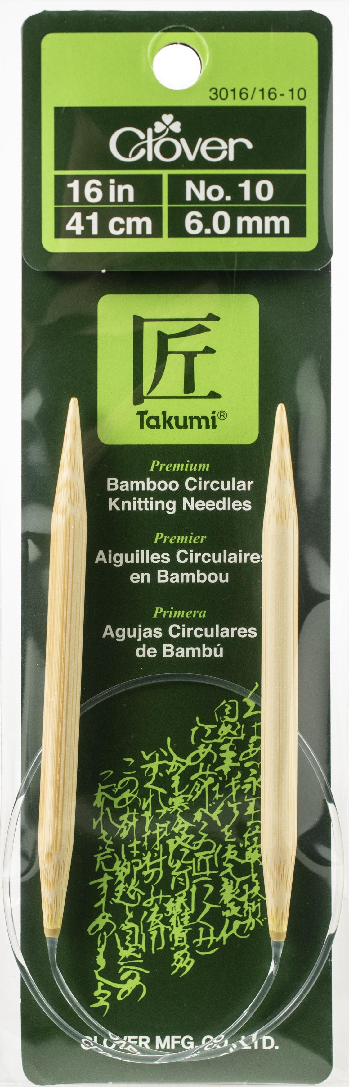 Takumi Bamboo Circular Knitting Needles 16-Size 10/6mm