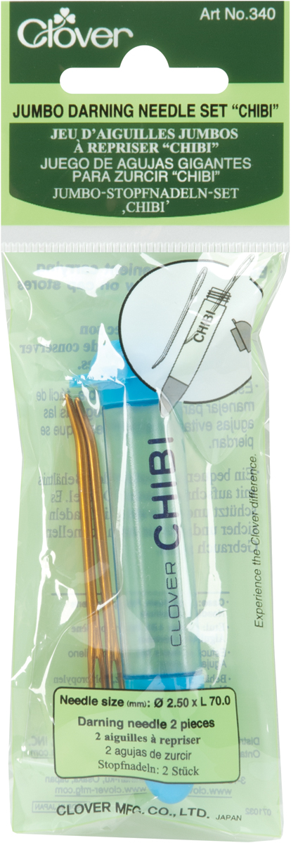 Clover Chibi Tapestry Needle Set-Jumbo 2/Pkg