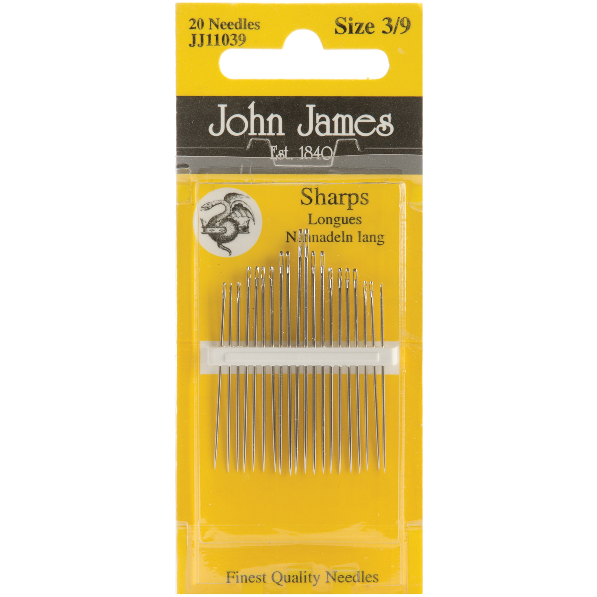 John James Sharps Hand Needles-Size 3/9 20/Pkg
