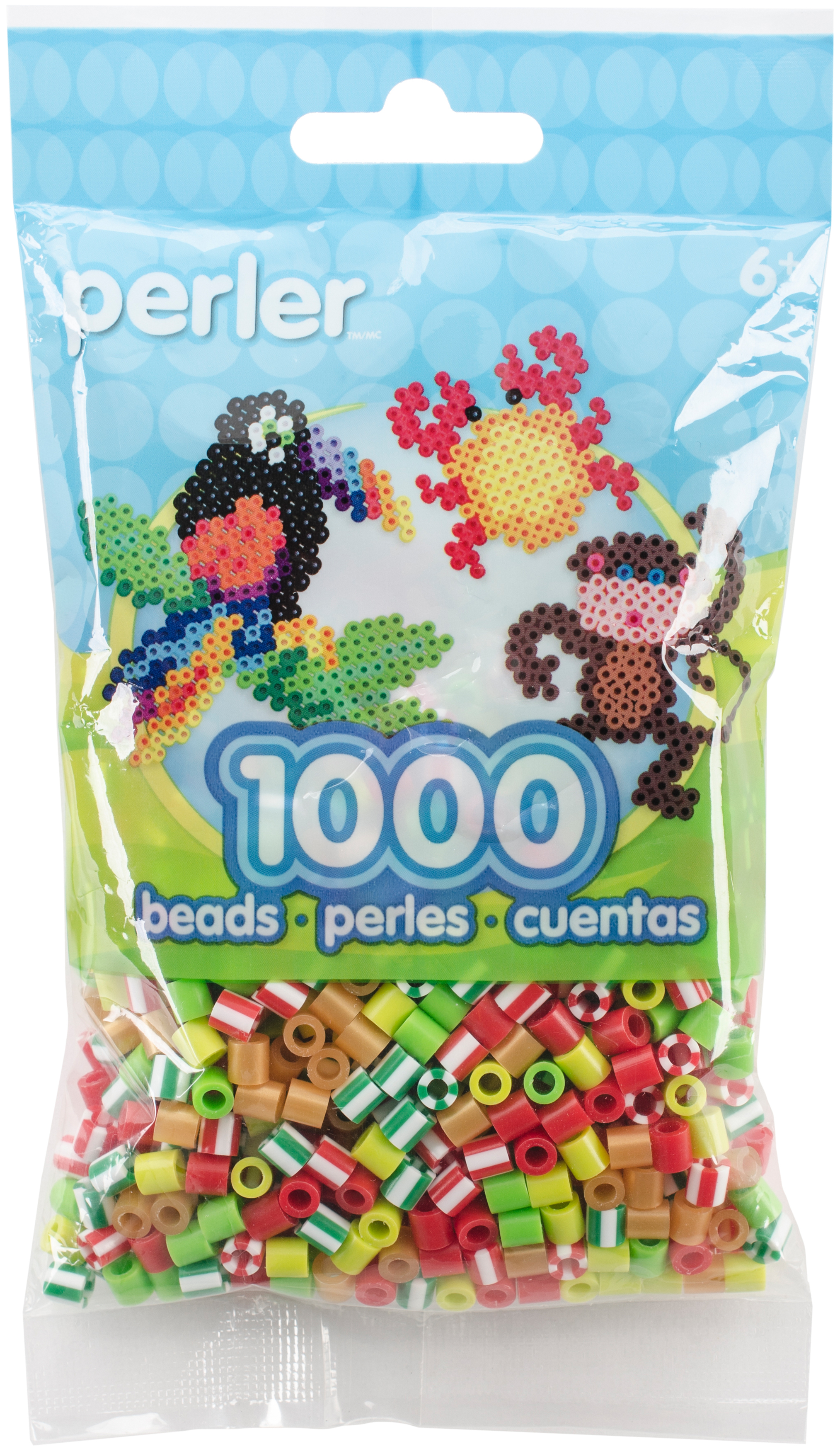Perler Beads 1,000/Pkg-Mistletoe
