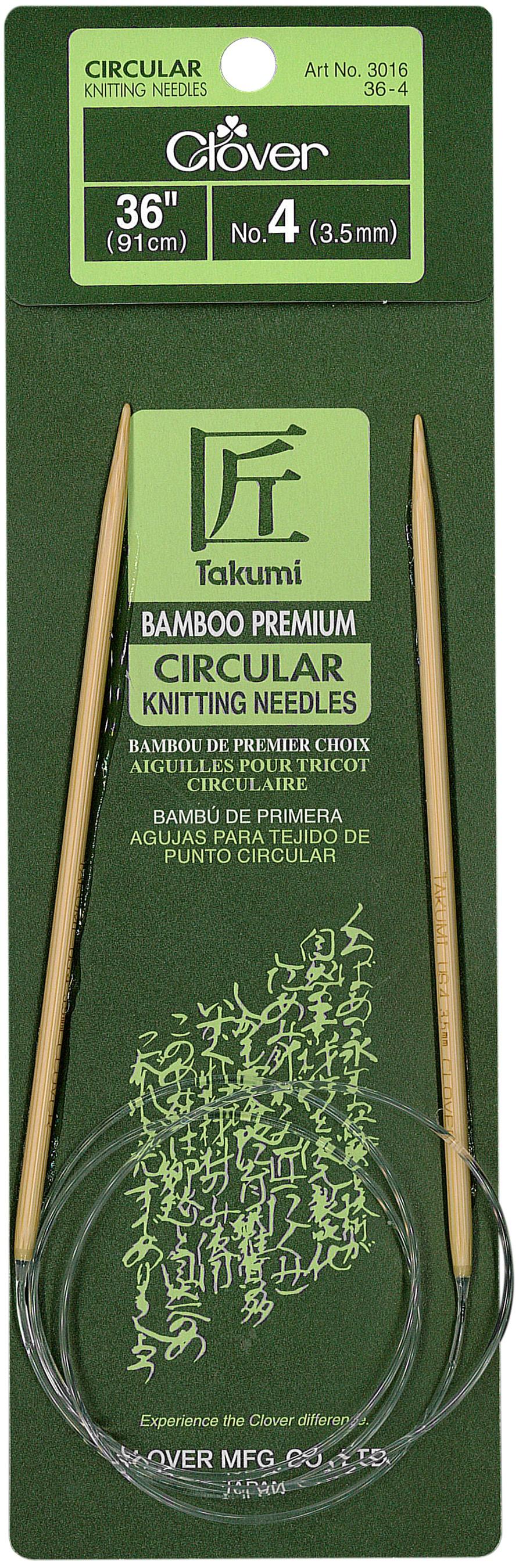 Takumi Bamboo Circular Knitting Needles 36-Size 4/3.5mm