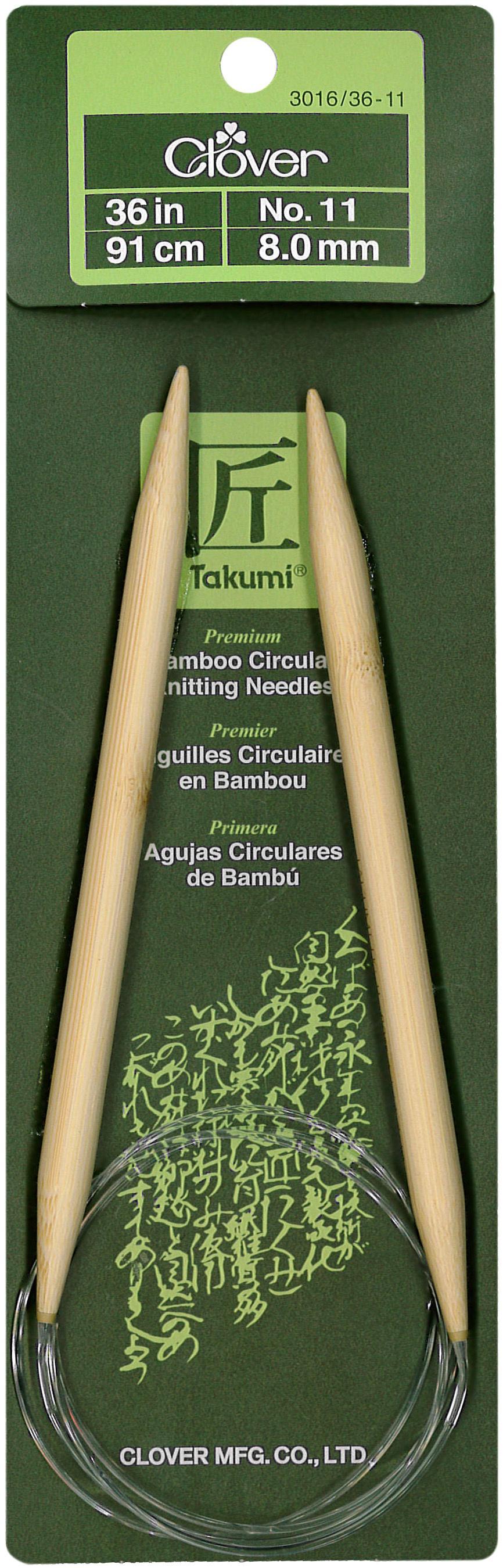 Takumi Bamboo Circular Knitting Needles 36-Size 11/8mm