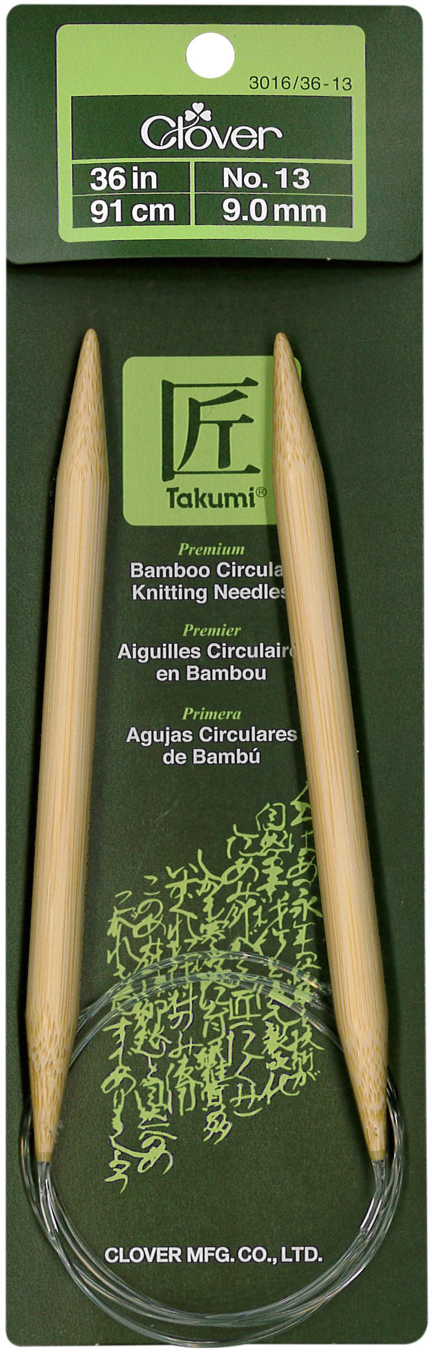 Takumi Bamboo Circular Knitting Needles 36-Size 13/9mm