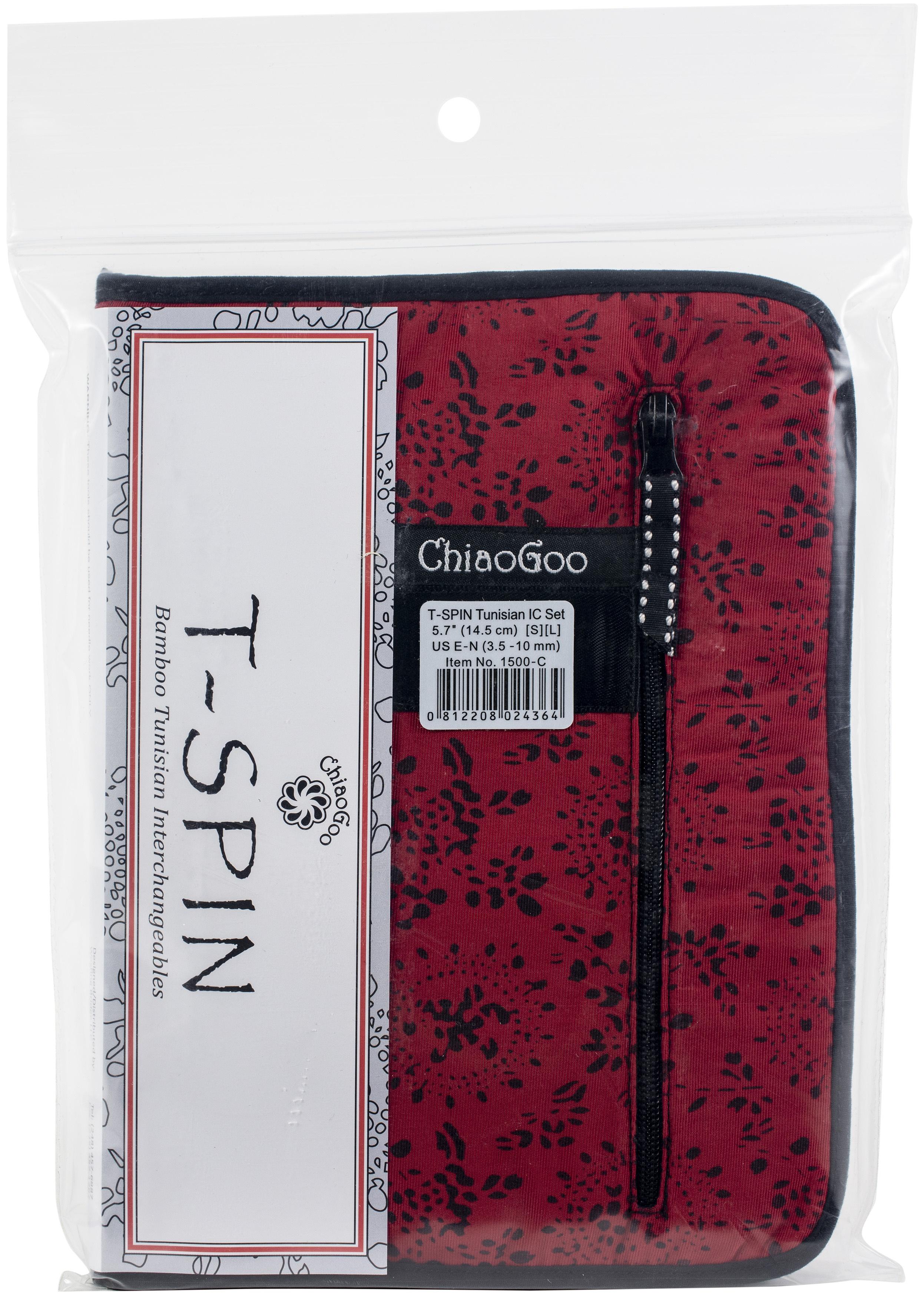 ChiaoGoo T-SPIN Interchangeable Tunisian Crochet Hook Set-Hooks From E4 Through ...