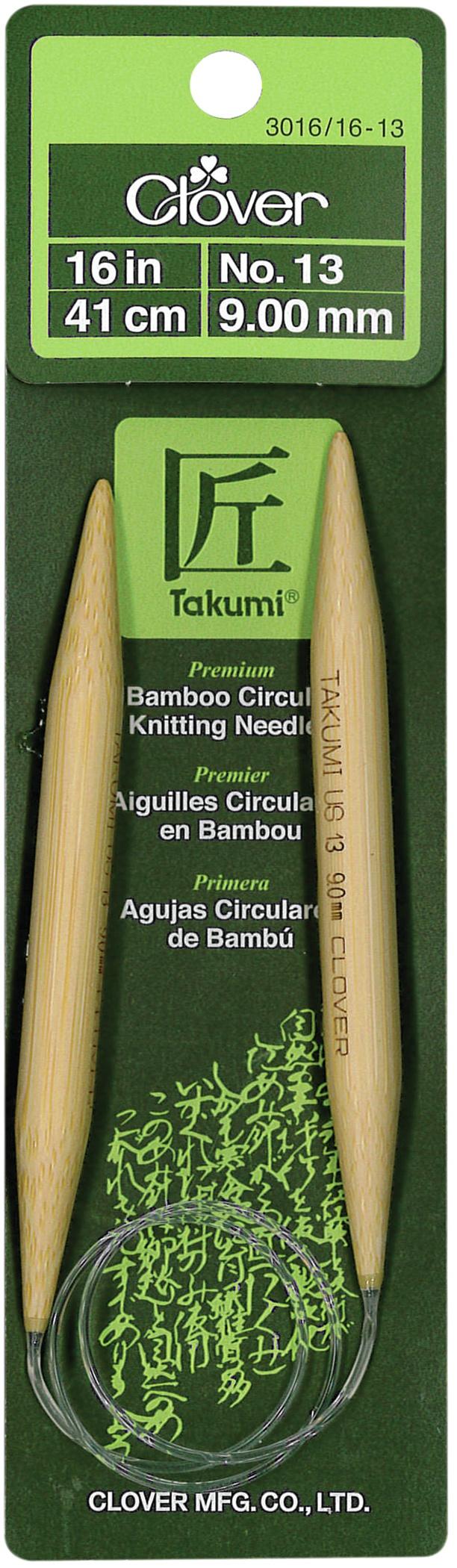 Takumi Bamboo Circular Knitting Needles 16-Size 13/9mm