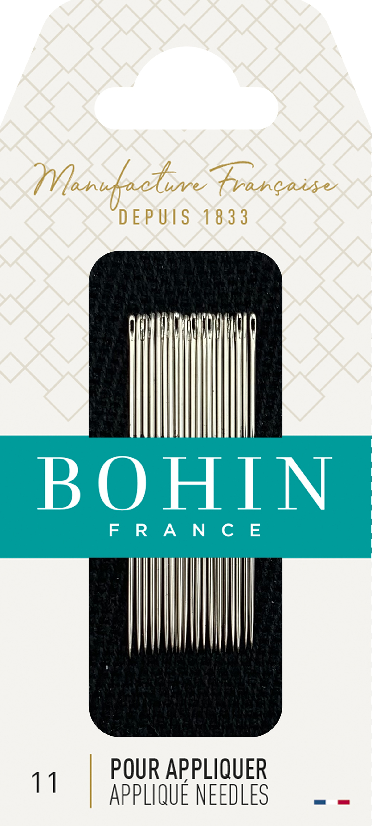 Bohin Applique Needles-Size 11 20/Pkg
