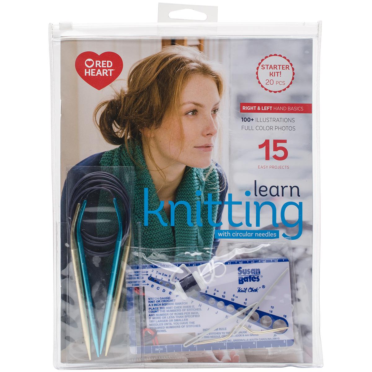 Susan Bates Learn To Knit With Circulars Kit-