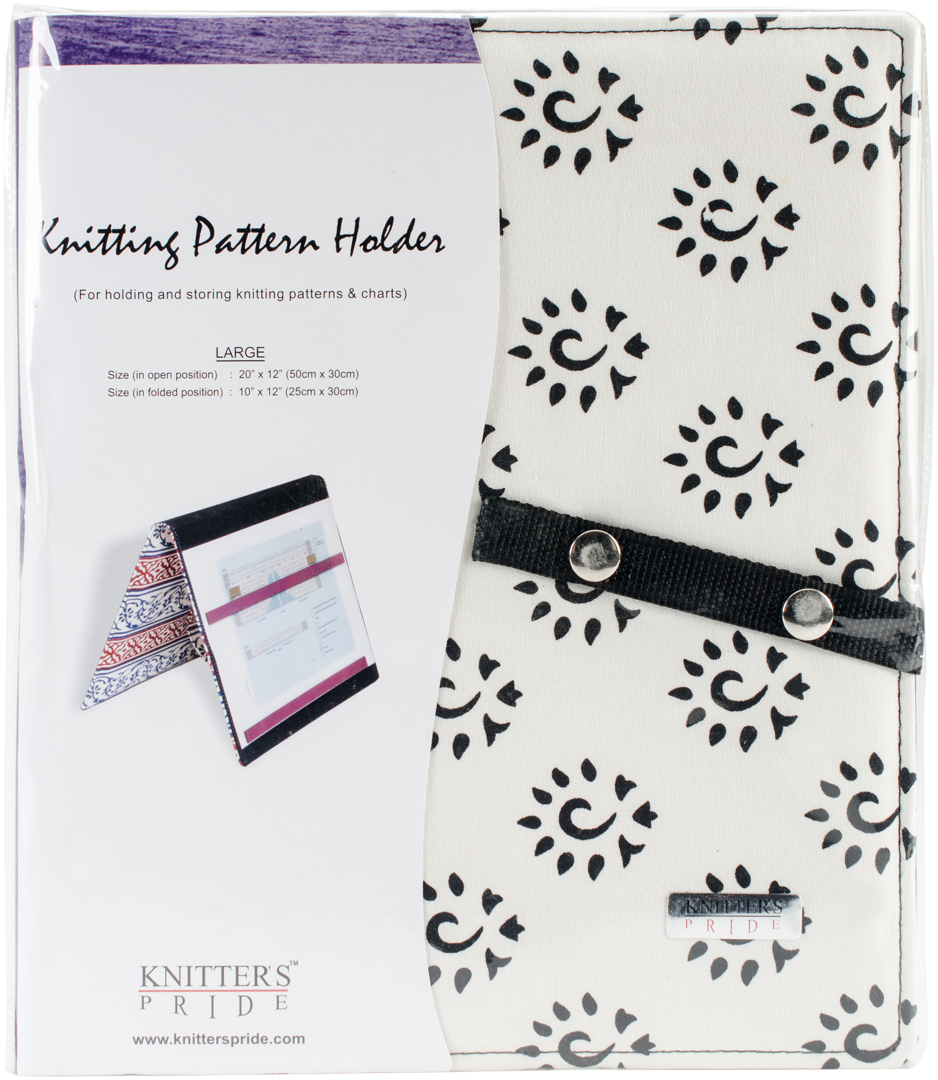 Knitter's Pride Pattern Holder Large - Amber Black