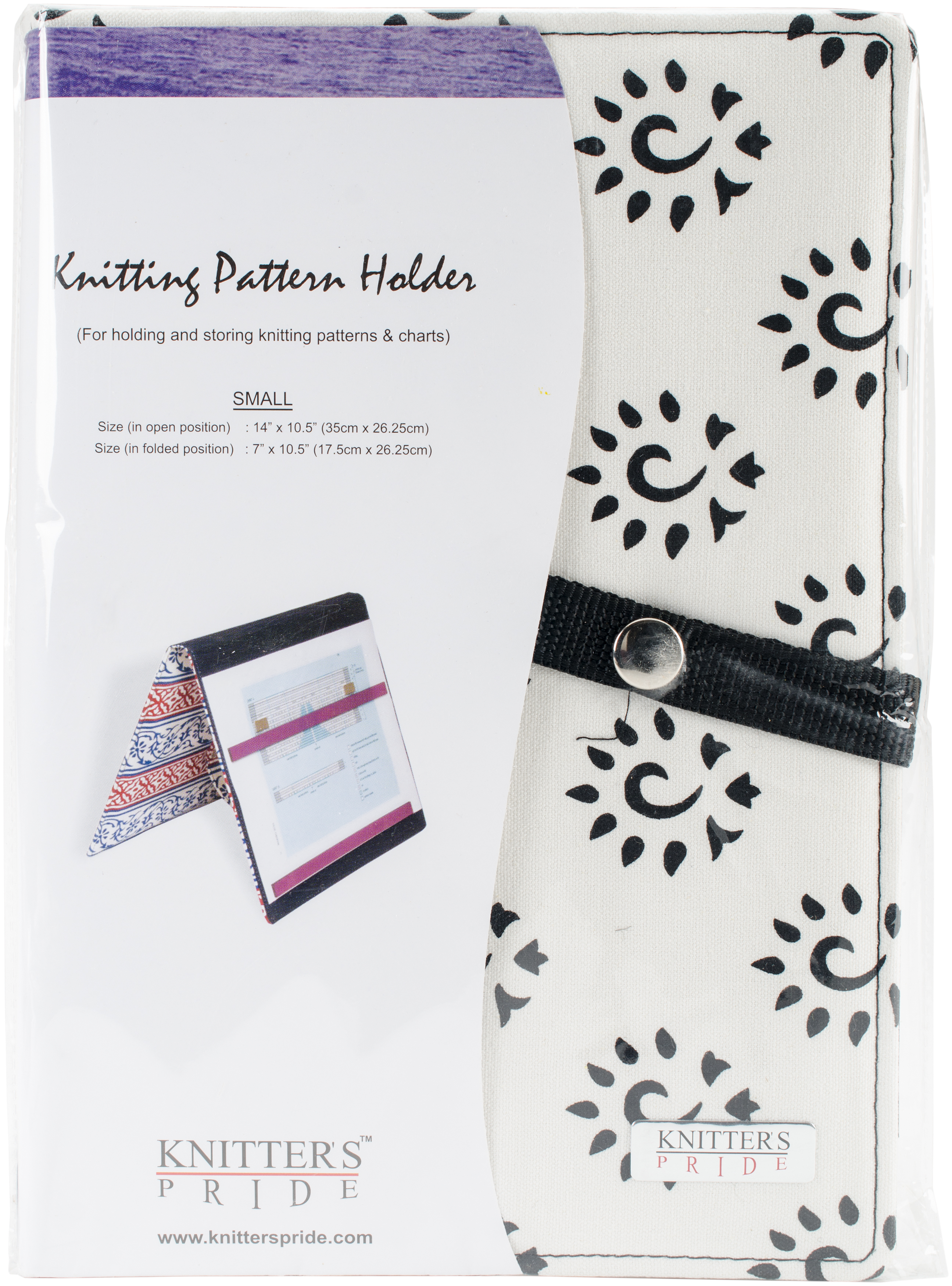Knitter's Pride Pattern Holder Small - Amber Black