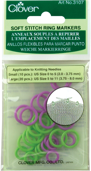 Soft Stitch Ring Markers-30/Pkg