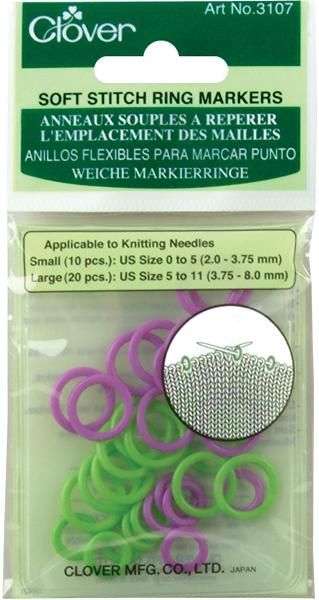 Soft Stitch Ring Markers 3107 (Green & Purple)