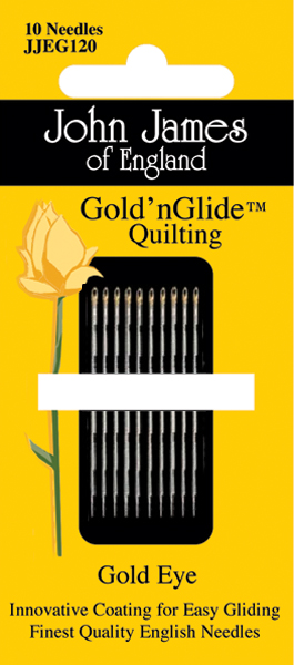 John James Gold'n Glide Quilting Needles-Size 11 10/Pkg