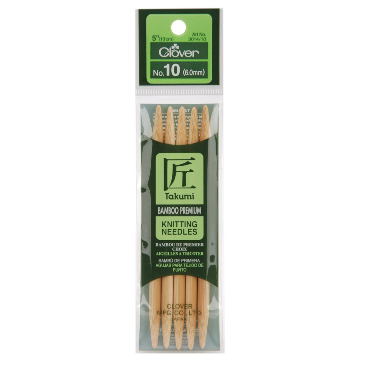 Takumi Bamboo Double Point Knitting Needles 5 5/Pkg-Size 10/6mm
