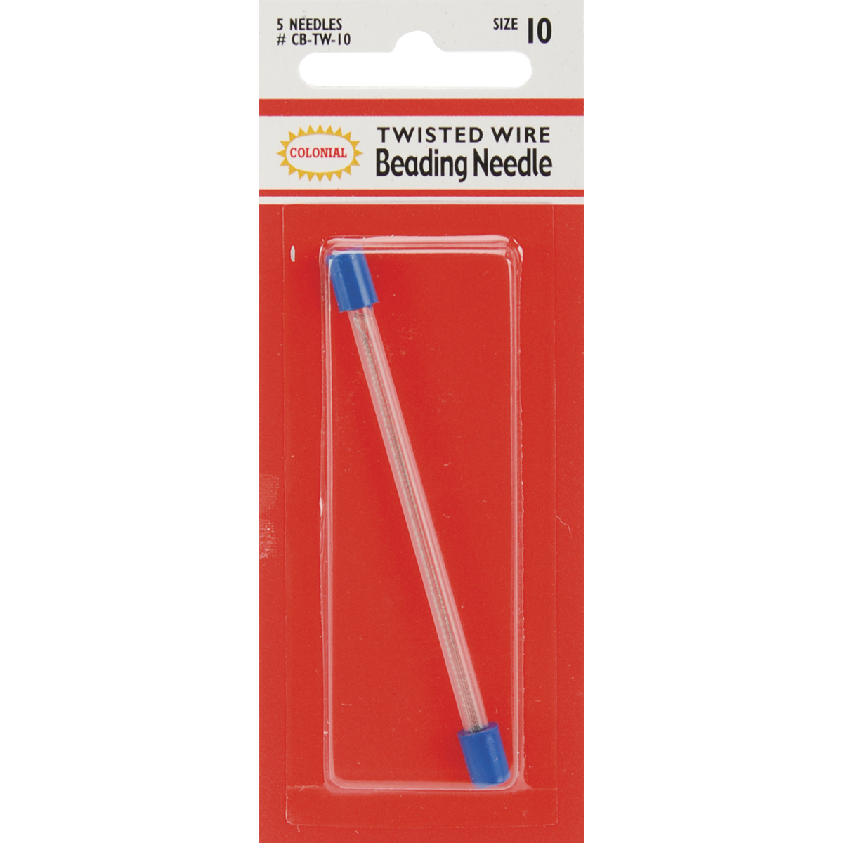 Colonial Needle Twisted Wire Beading Needles-Size 10 5/Pkg