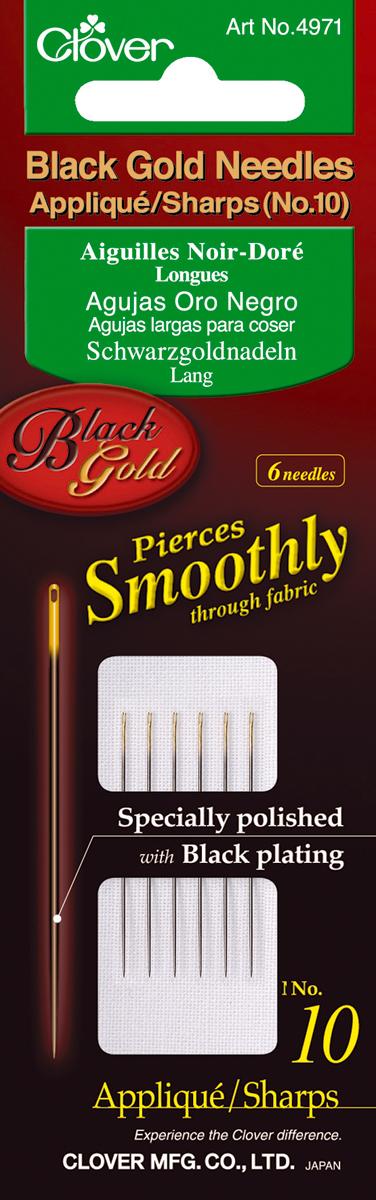 Black Gold Applique/Sharps Needles-Size 10  6/Pkg