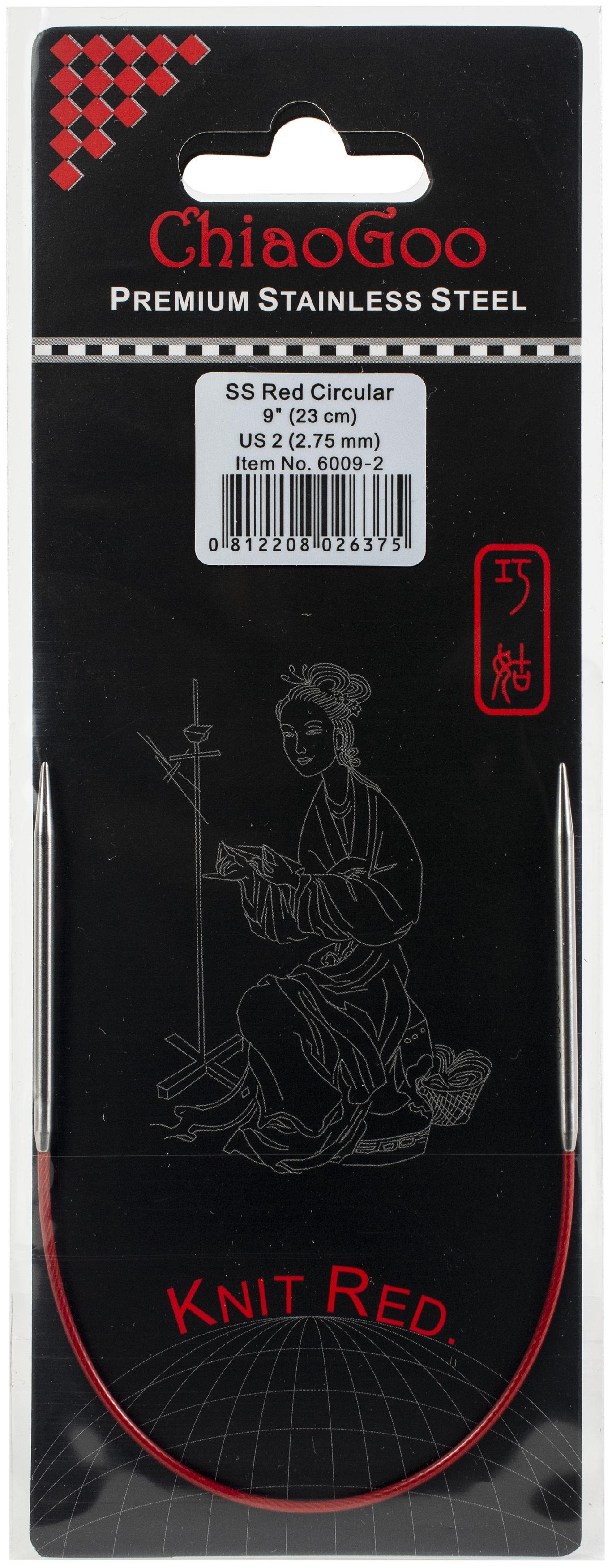 ChiaoGoo Red Circular Knitting Needles 9