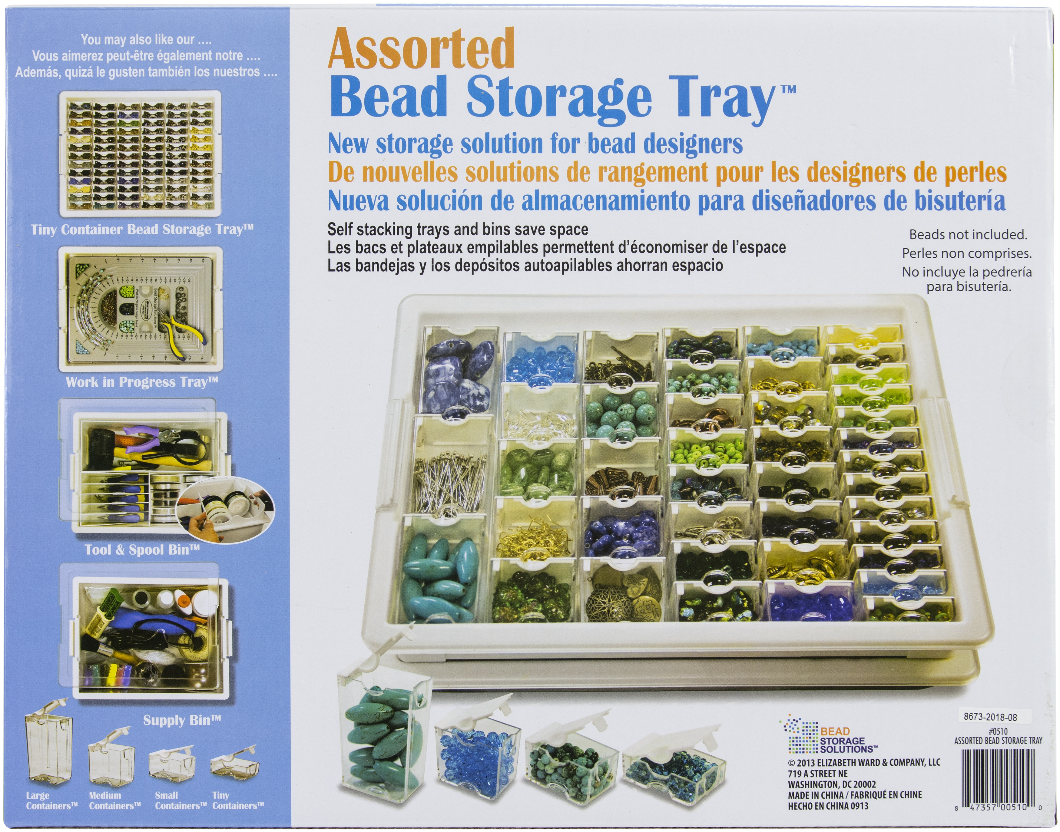 45 Pc Assorted Bead Storage Tray
