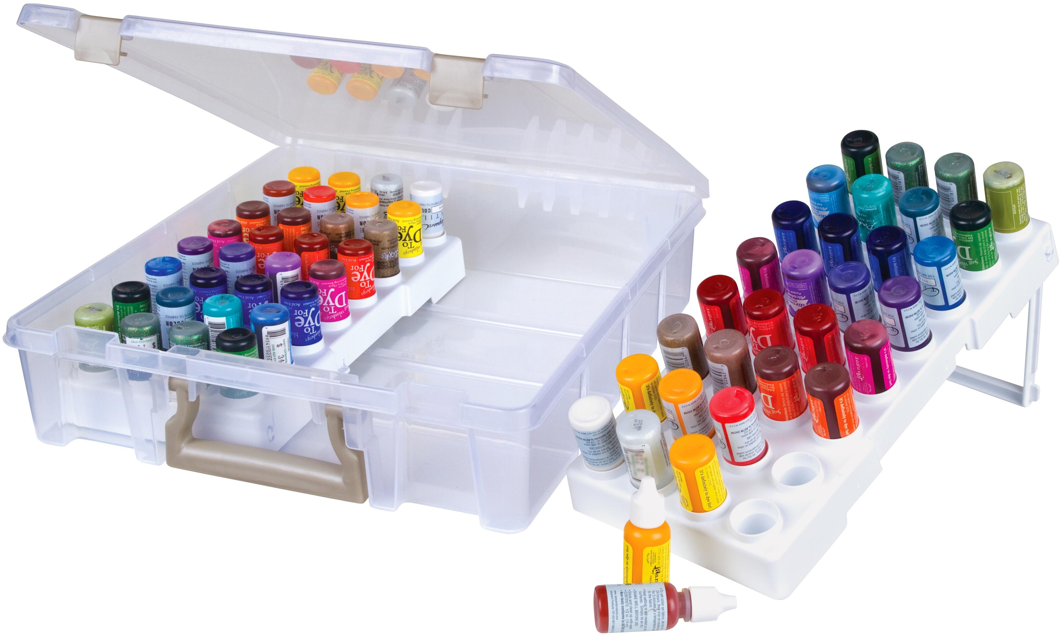 ArtBin Super Satchel W/Glitter Glue Trays-15X14X3.5 Translucent