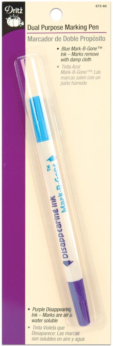Dritz Dual Purpose Marking Pen-Blue & Purple