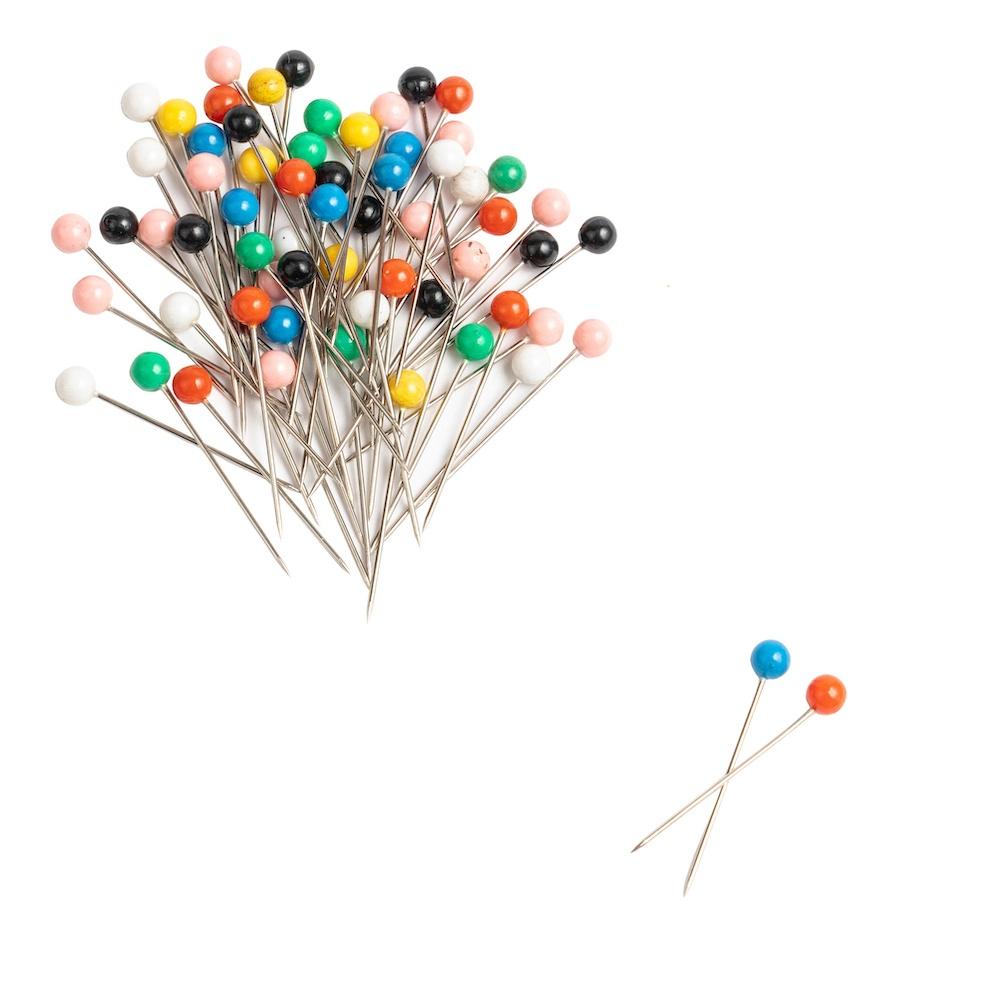 Singer QuiltPro Ball Head Straight Pins In Flower Case-Size 17 300/Pkg