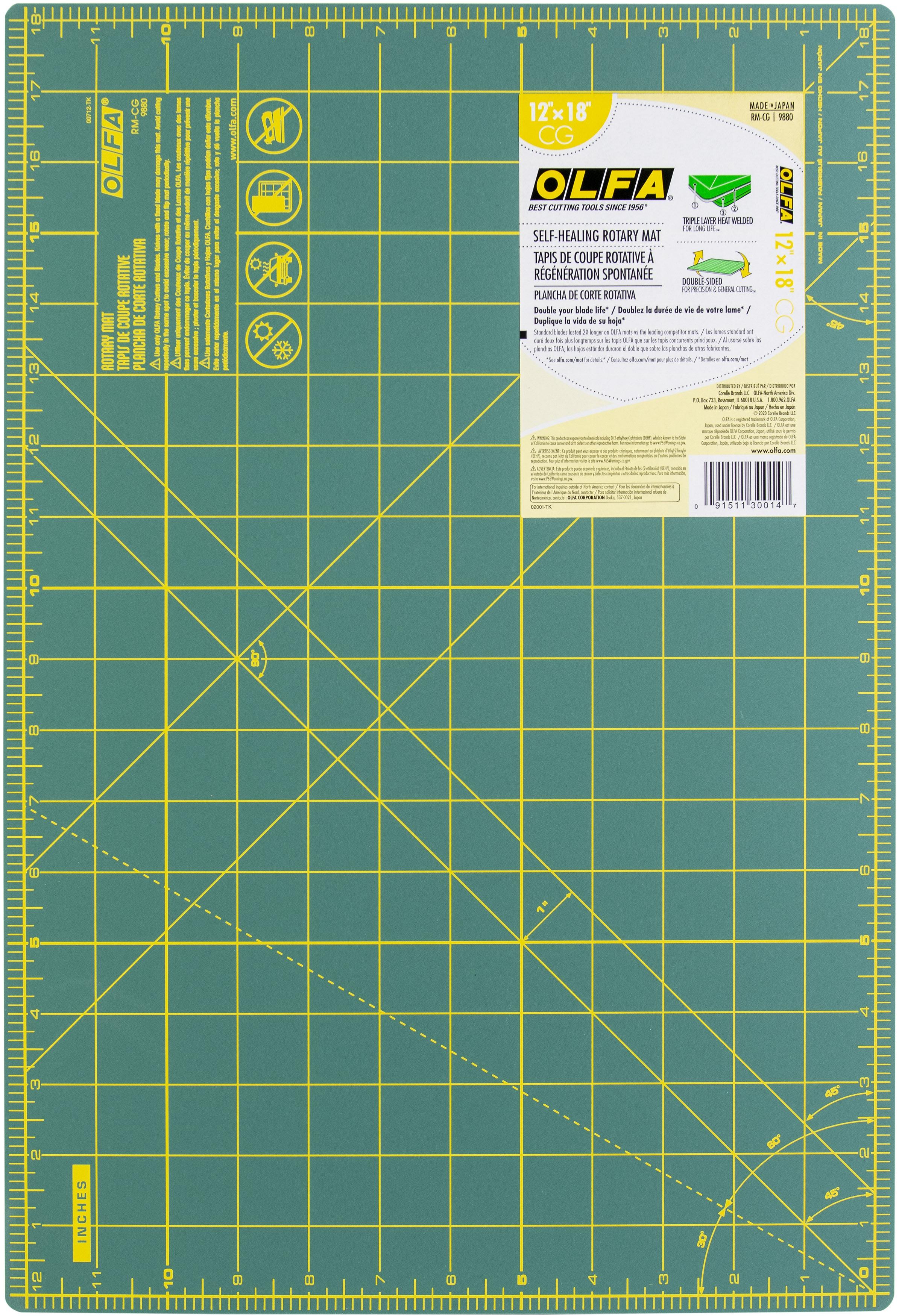 OLFA Gridded Cutting Mat 12X18-