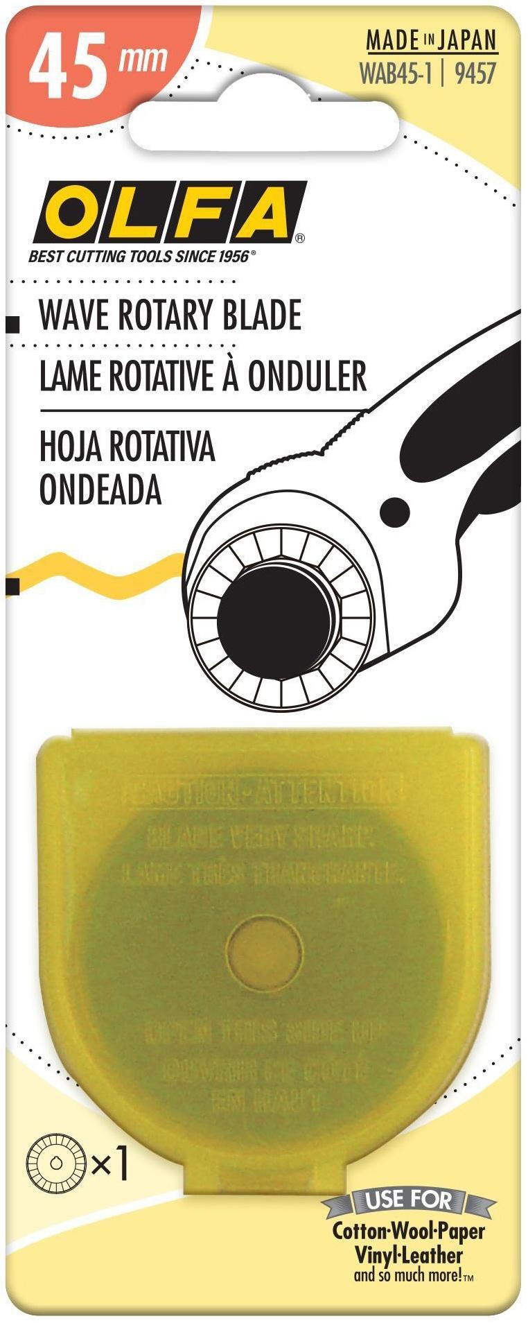 OLFA Rotary Blade Refill 45mm-Wave