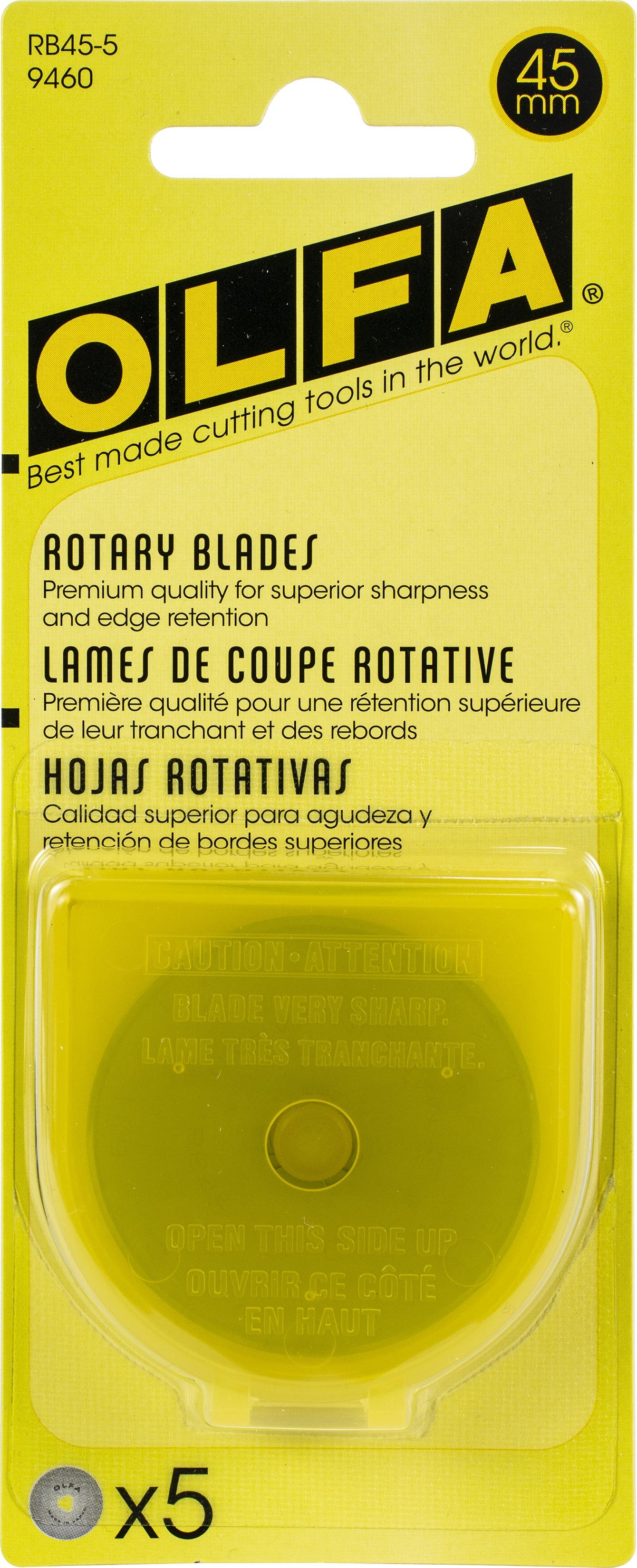 OLFA Rotary Blade Refill 45mm 5/Pkg-