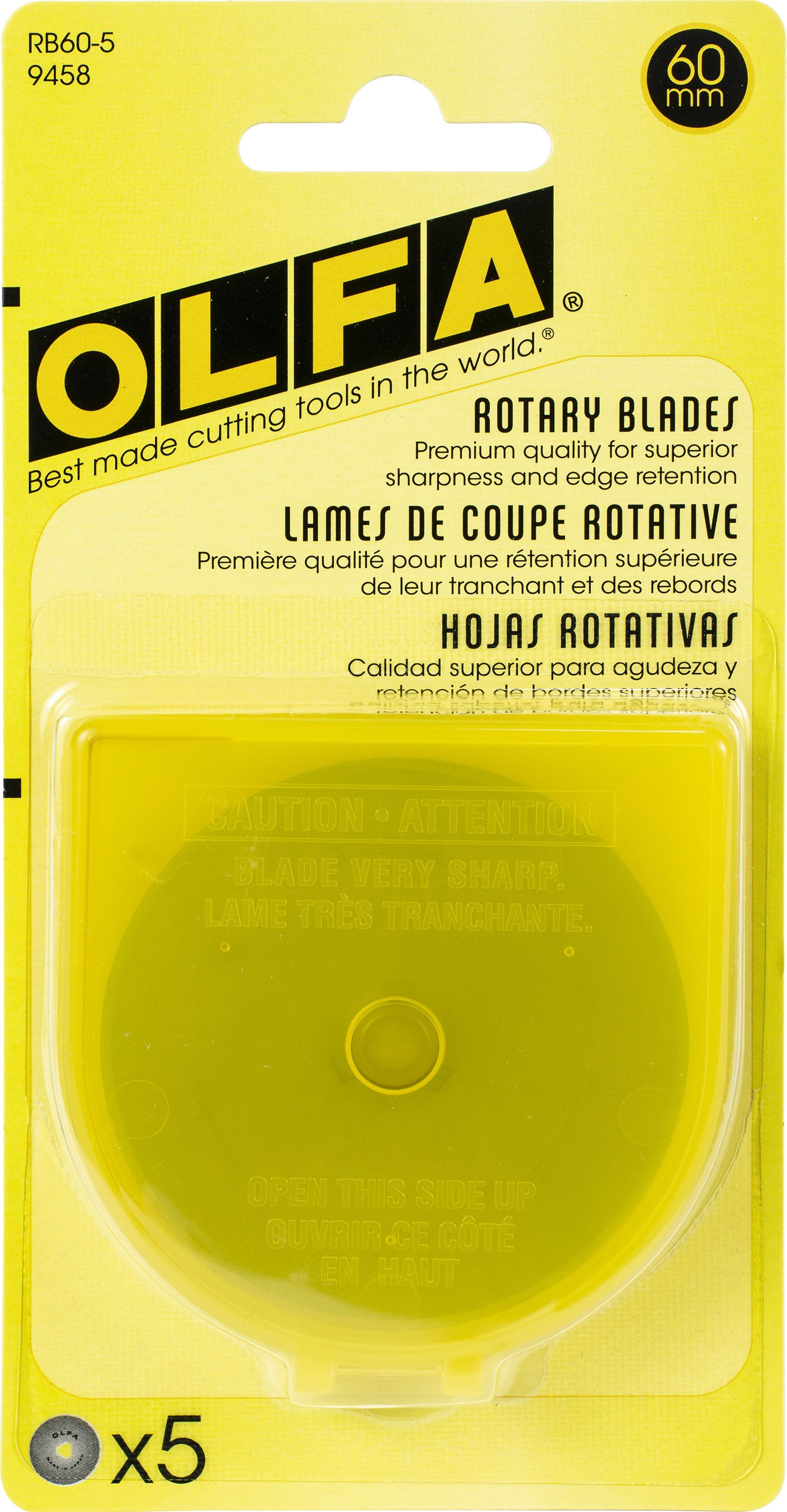OLFA Rotary Blade Refill 60mm 5/Pkg-