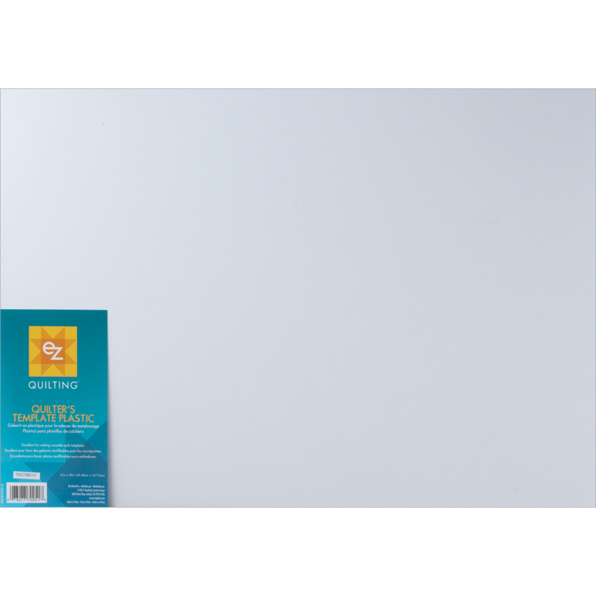 Template Plastic Sheets 12x18