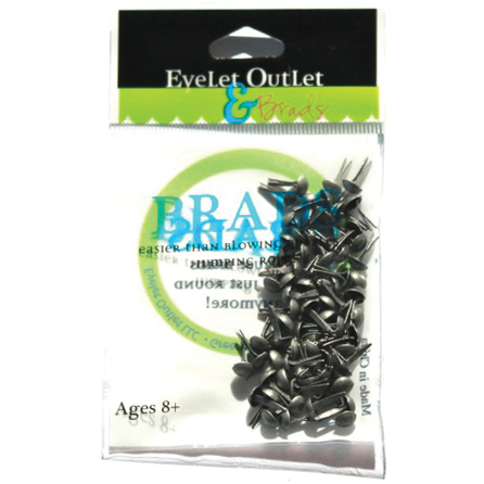 CLICK HERE TO SEE ALL! - Eyelet Outlet Round Brads 4mm 70/Pkg-Brushed Silver