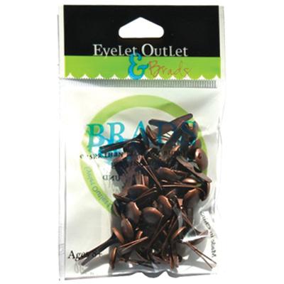 Eyelet Outlet Round Brads 8mm 40/Pkg-Brushed Copper