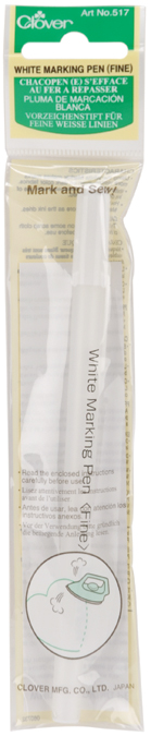 Clover Water-Soluble Marking Pen - Fine-White