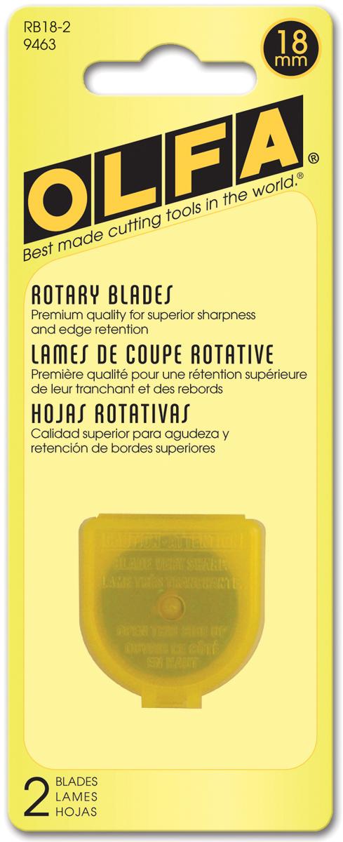 OLFA Rotary Blade Refill 18mm 2/Pkg-