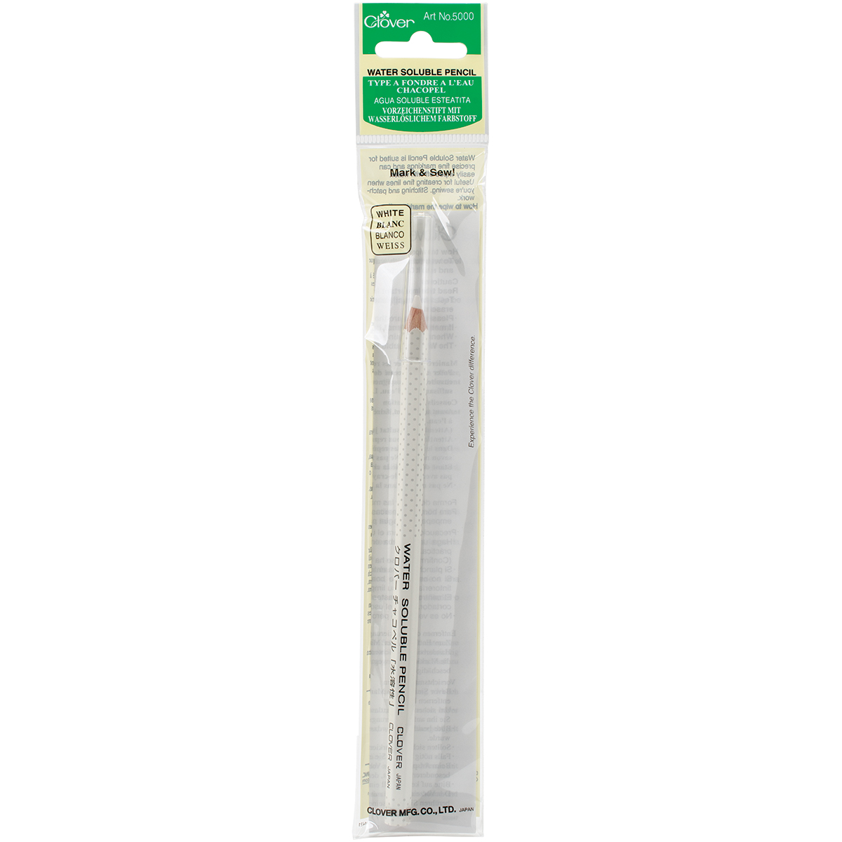 Clover Water-Soluble Pencil-White