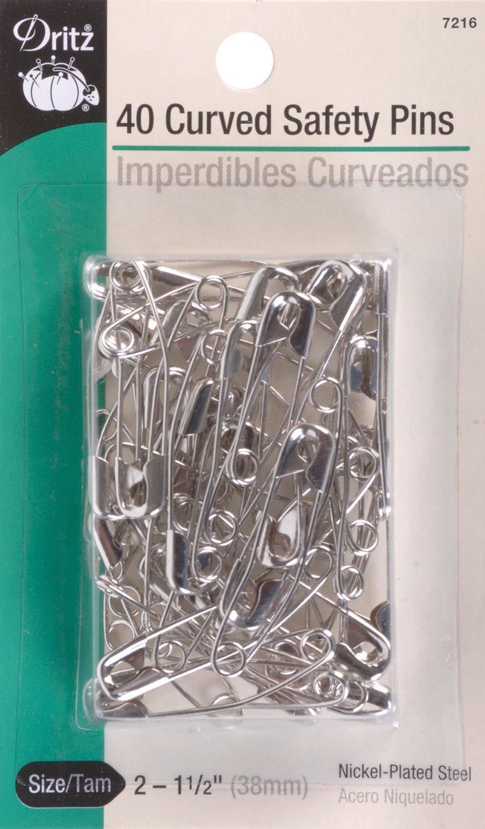 Curved Safety Pins size 2
