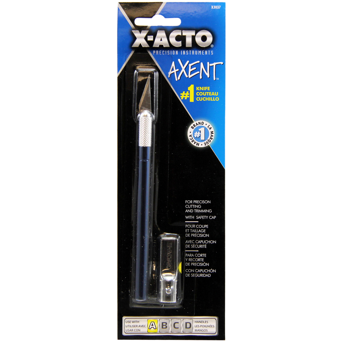 X-ACTO(R) AXENT #1 Craft Knife W/Cap-Blue