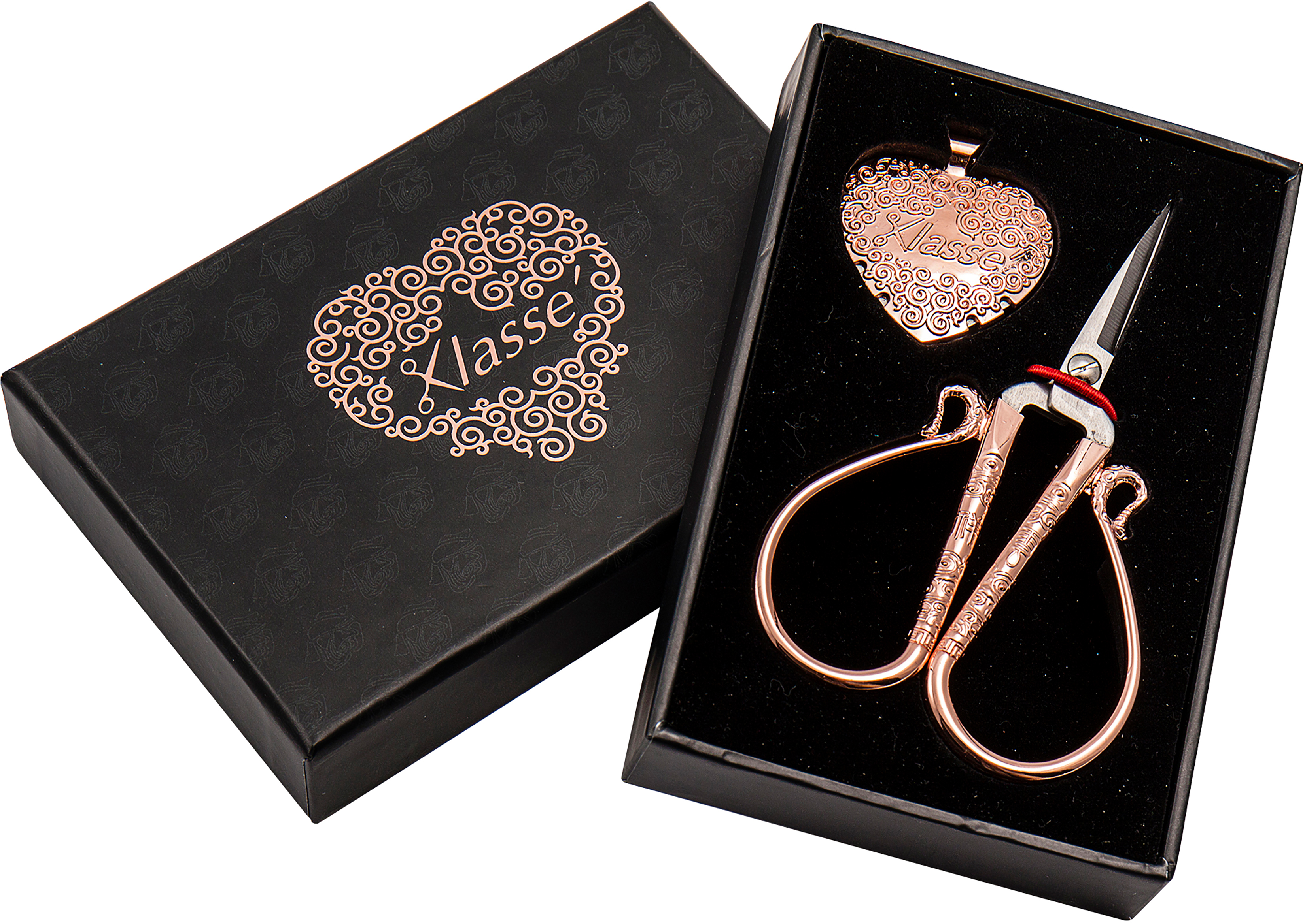 Klasse Rose Gold Scissor Thread Cutter (2pc Box Set)