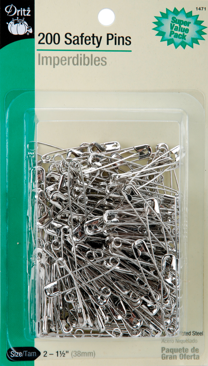 Dritz Safety Pins 200/Pkg-Size 2