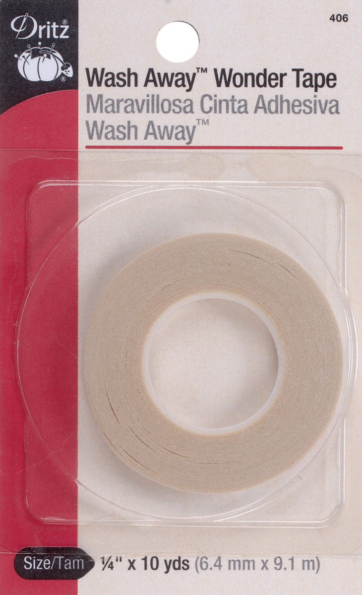Dritz Wash Away Wonder Tape 1/4X10yd-