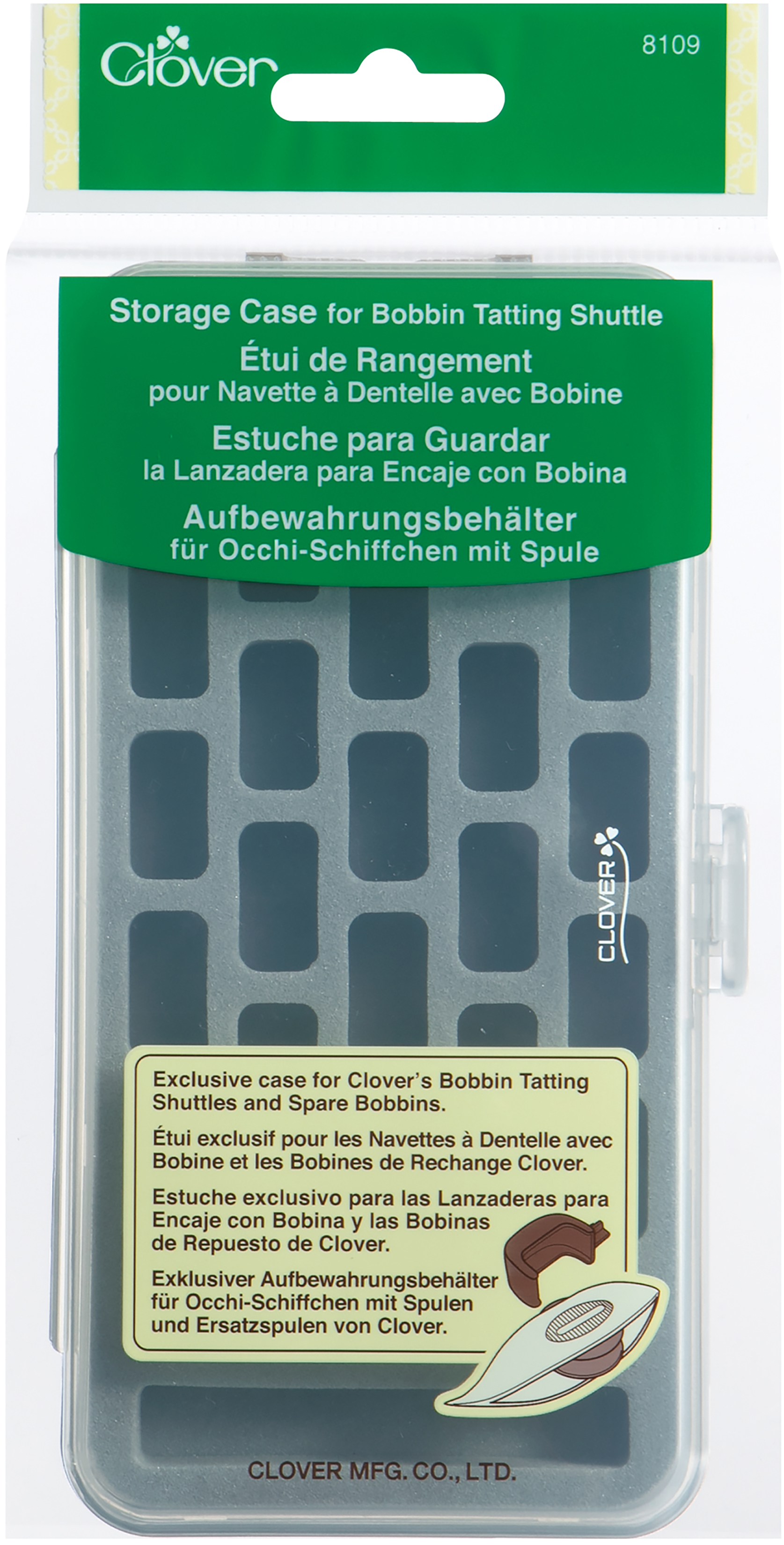 Cl Tatting Organizer Plastic - For Shuttles And Bobbins