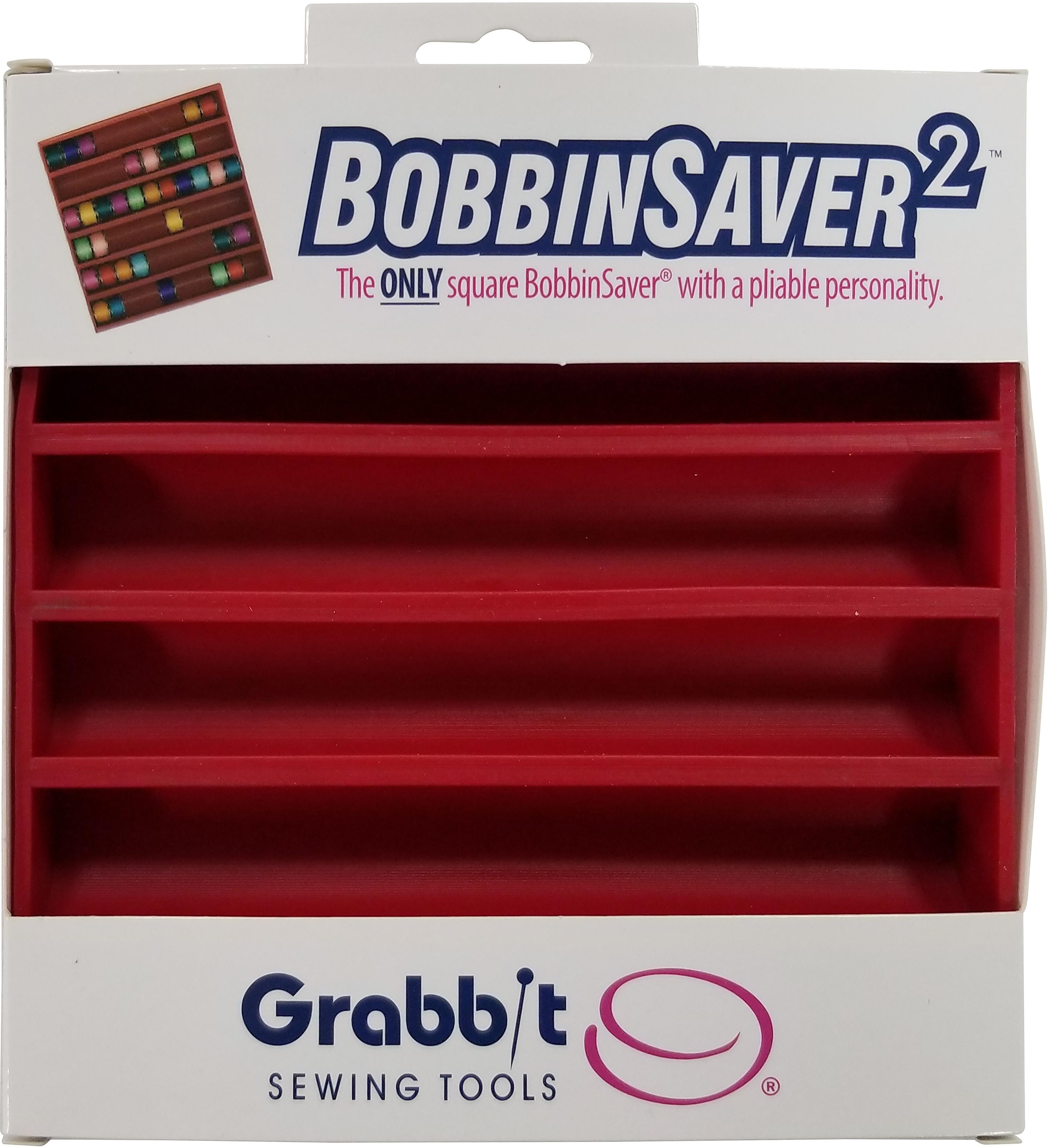 Grabbit BobbinSaver 2-Red, Holds Up To 66 Bobbins