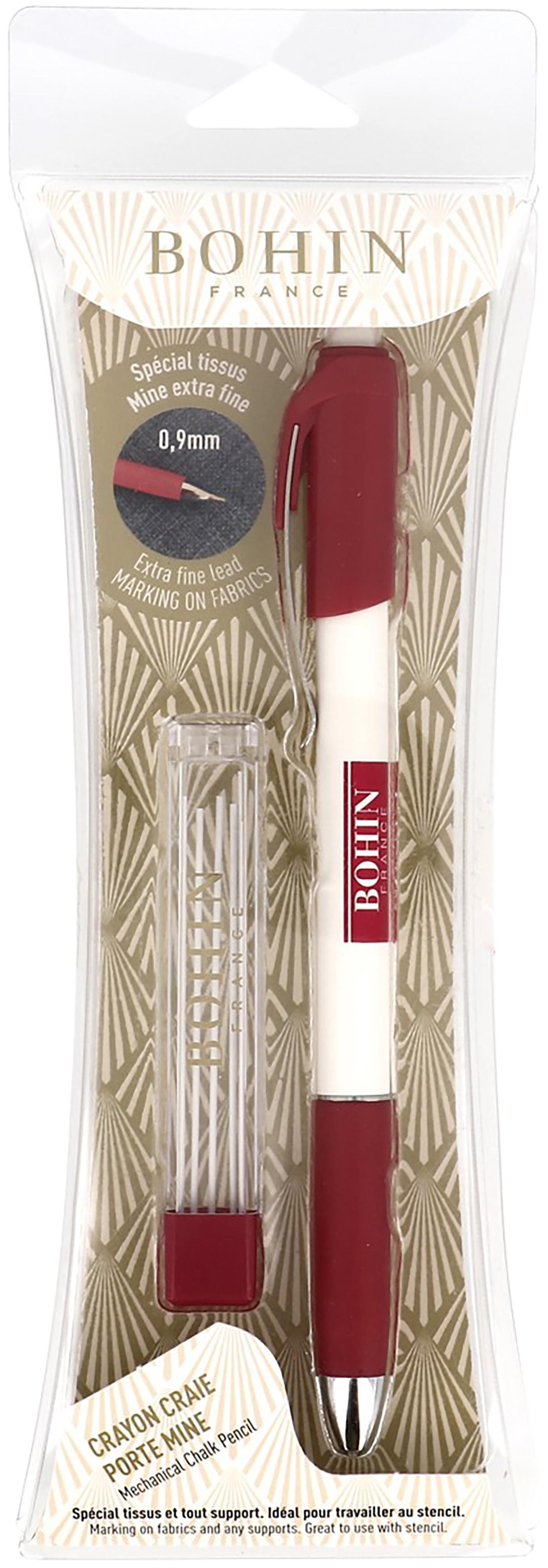 Bohin Mechanical Chalk Pencil - Extra Fine-White