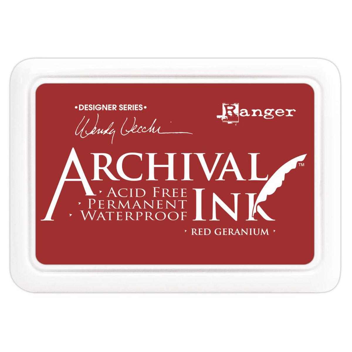 Wendy Vecchi Archival Ink Pad-Red Geranium