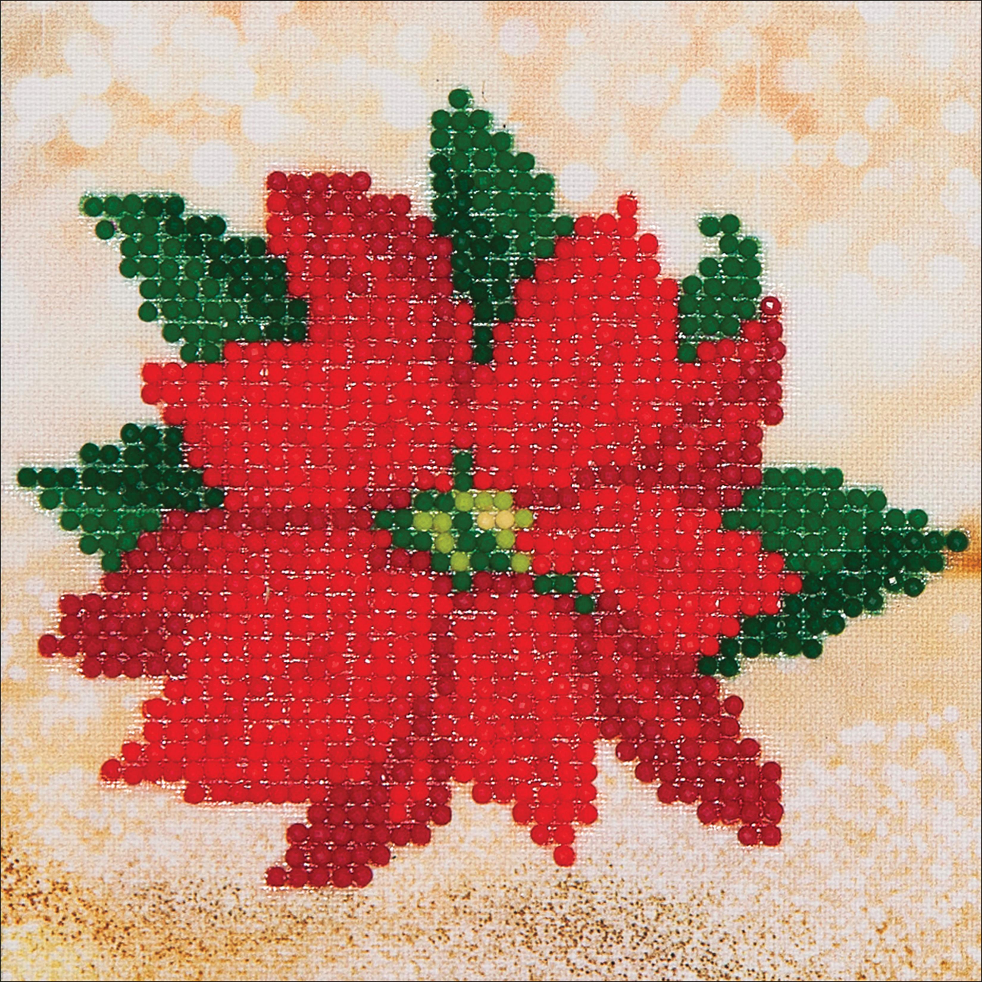 Diamond Dotz Diamond Embroidery Facet Art Kit 8X8-Poinsettia