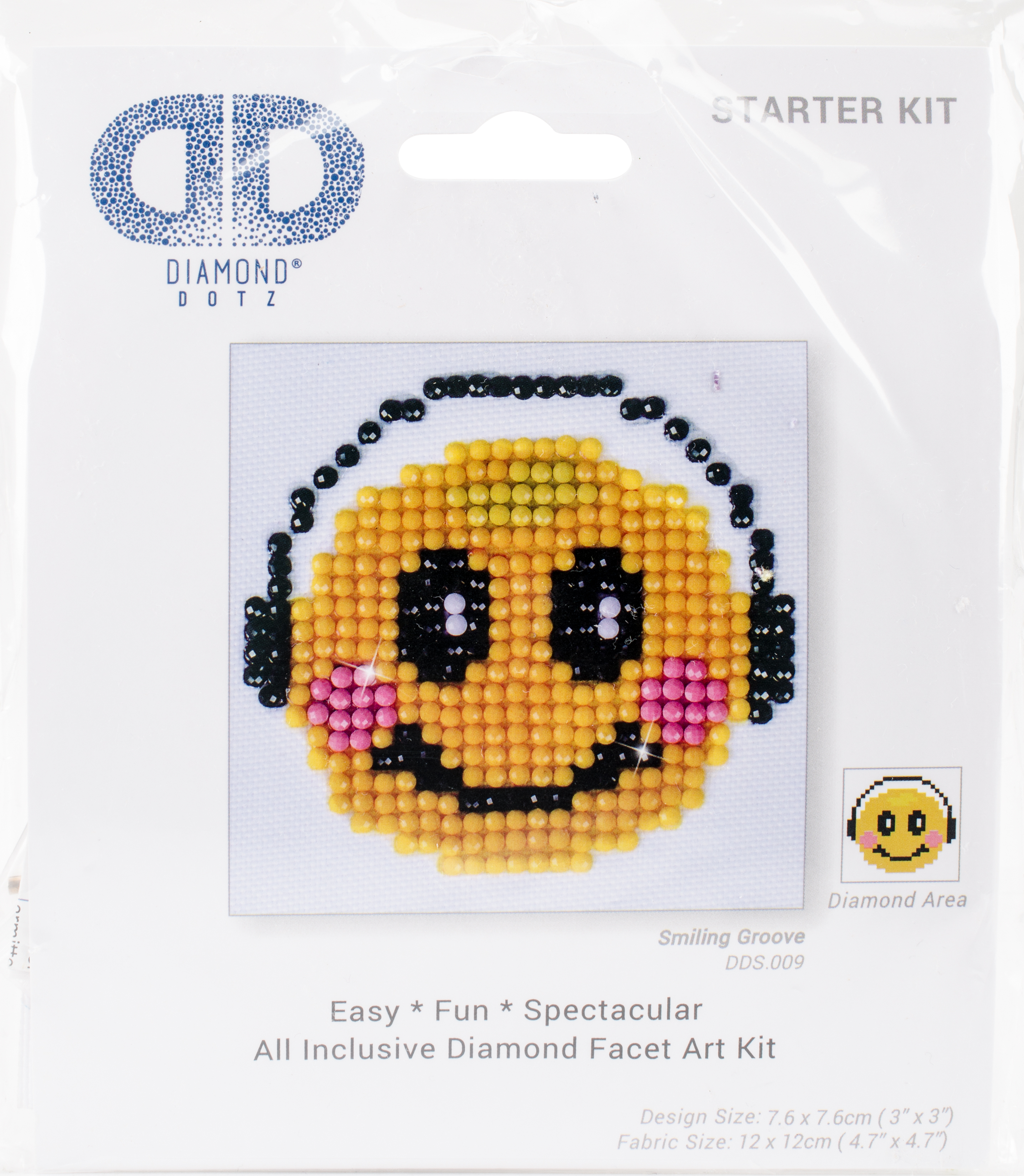 Diamond Dotz Diamond Embroidery Facet Art Kit 4.75X4.75-Smiling Groove