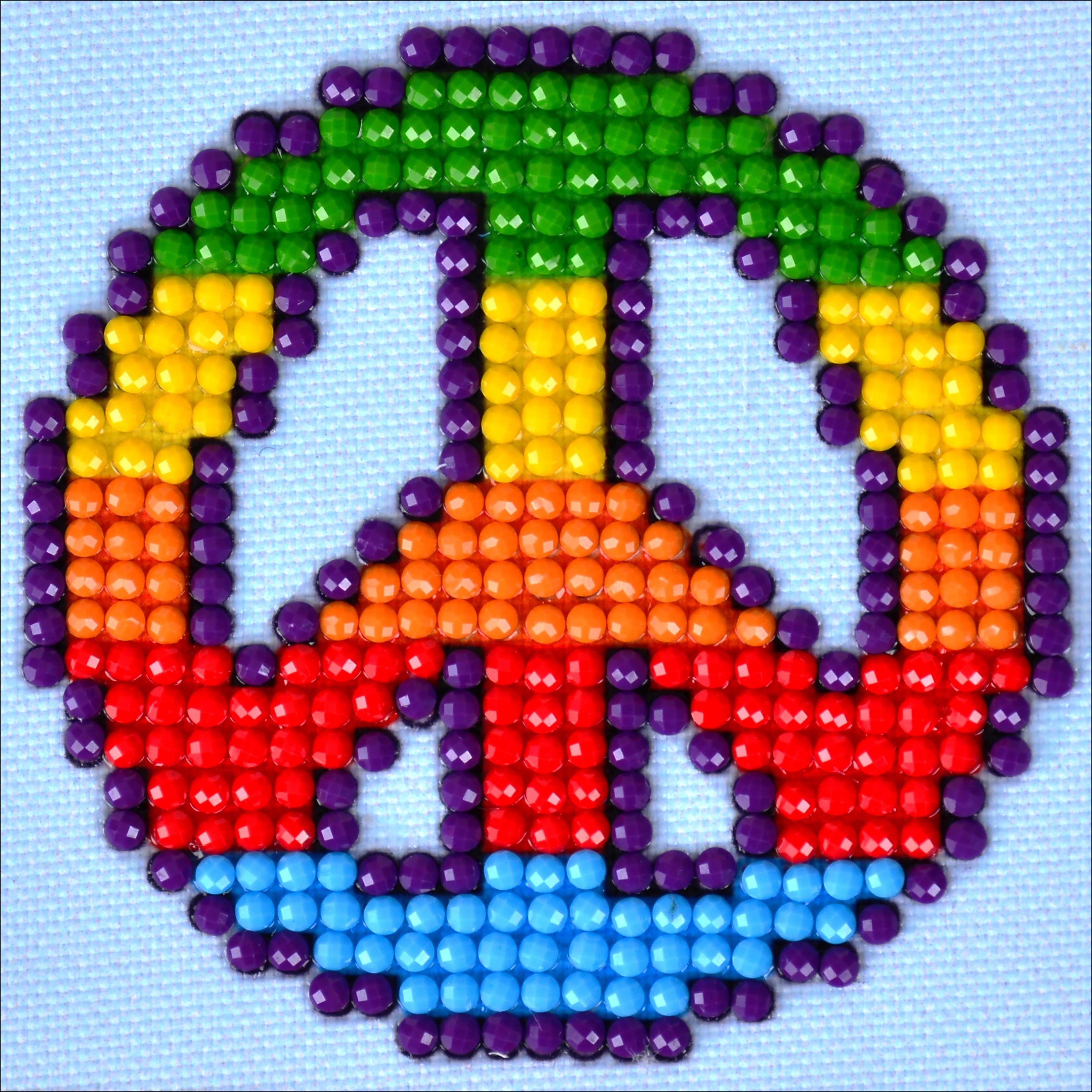 Diamond Dotz Diamond Embroidery Facet Art Kit 4.75X4.75-Peace Man