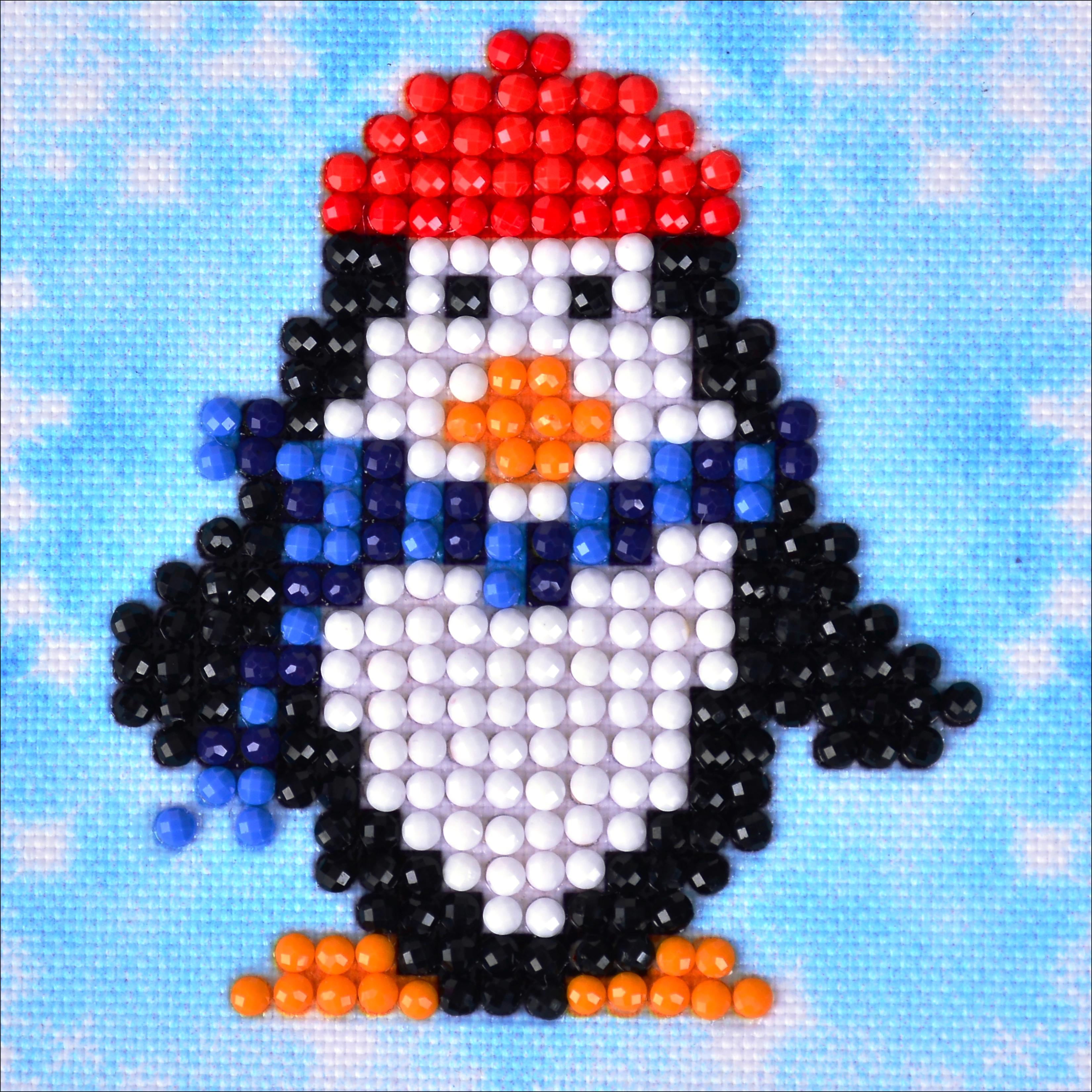 Diamond Dotz Diamond Embroidery Facet Art Kit 4.75X4.75-Penguin Waddle